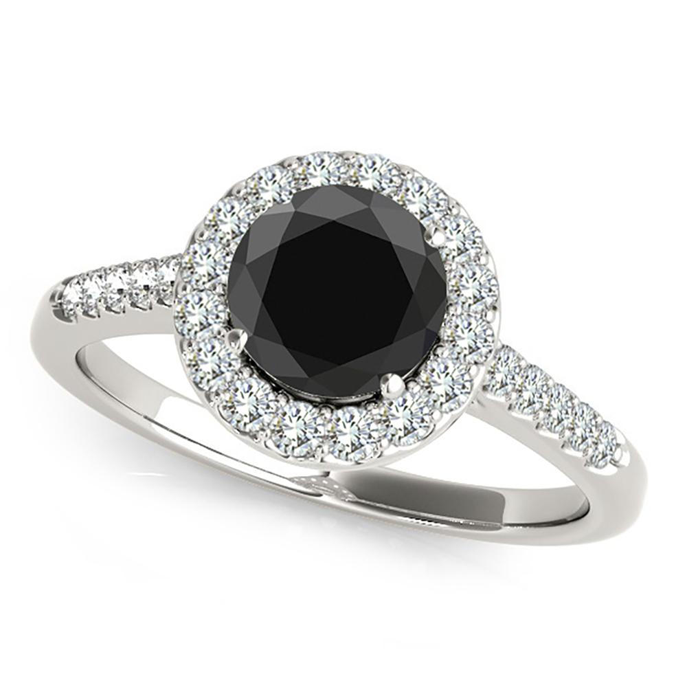 2 carat black beautiful halo engagement promise