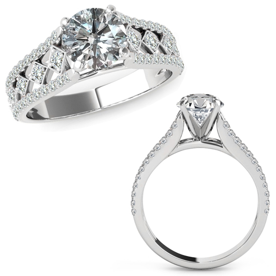 1 25 carat beautiful solitaire halo engagement
